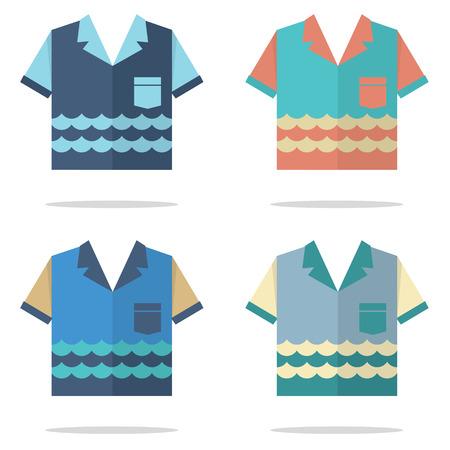 for men: Shirts For Men Vector Illustration