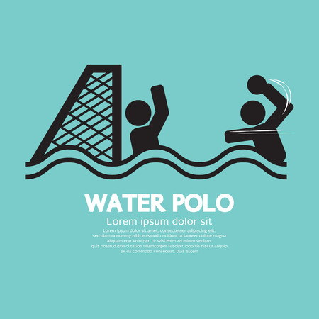 Water Polo Sport Sign Vector Illustration Vector