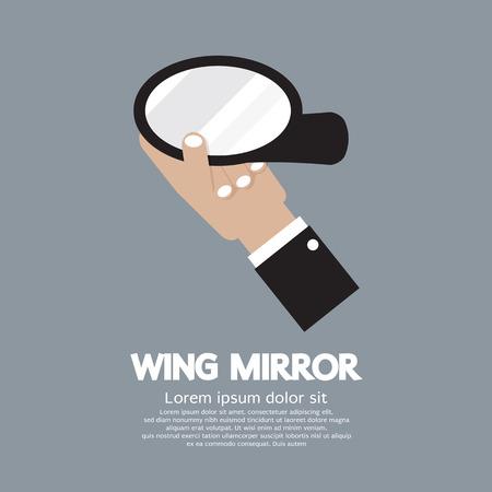 rear wing: Wing Mirror Car Parts Vector Illustration Illustration