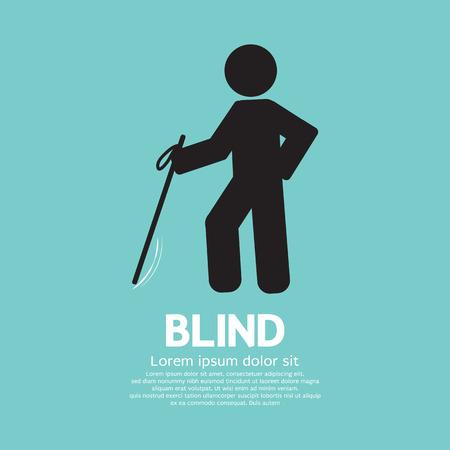 blind man: Blind Disabled Black Symbol Graphic Vector illustration