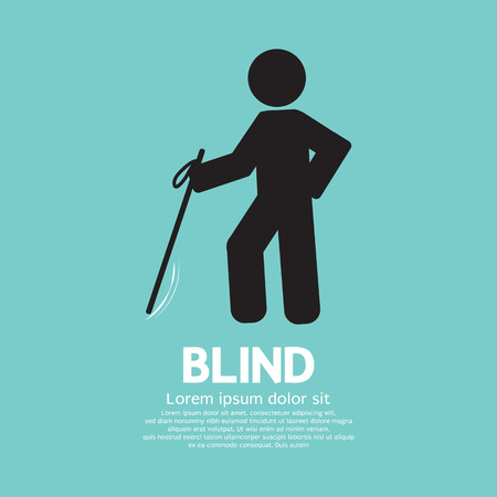 Blind Disabled Black Symbol Graphic Vector illustration