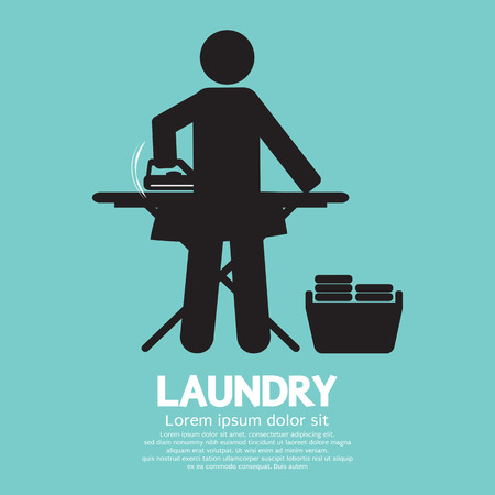 Laundry Black Symbol Graphic Vector Illustration