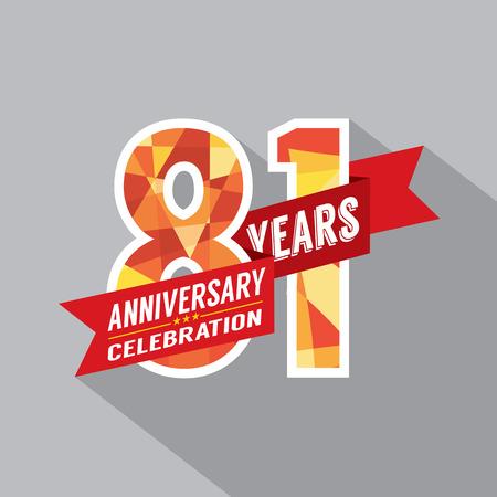 81: 81st Years Anniversary Celebration Design