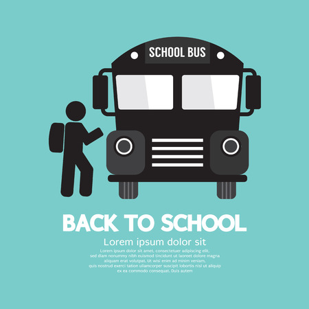 Back To School Graphic Symbol Vector Illustration Vector