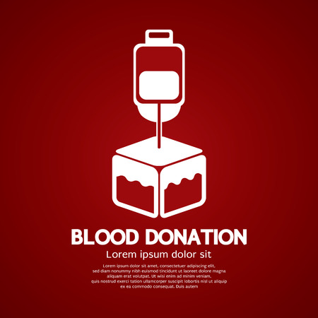 donor: Blood Donation Graphic Vector Illustration Illustration