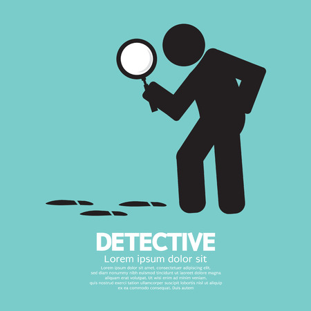 looking glass: Detective Symbol Graphic Vector Illustration