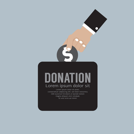 philanthropy: Donate Money To Charity Concept Vector Illustration Illustration