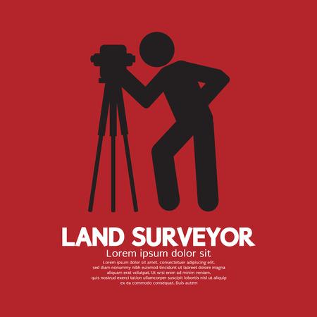 theodolite: Land Surveyor Black Graphic Symbol Vector Illustration