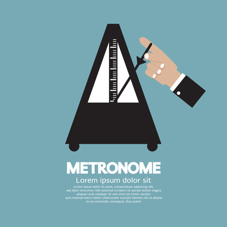 metronome: Metronome For Music Practicing Vector Illustration