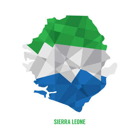 sierra: Map of Sierra Leone  Vector Illustration