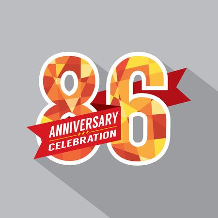sixth birthday: 86th Years Anniversary Celebration Design