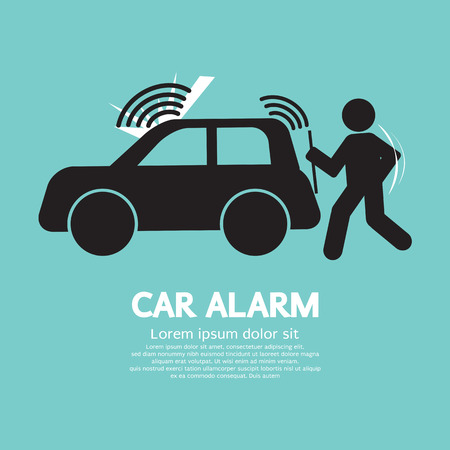 Car Alarm Piracy Prevention Symbol Vector Illustration Vector