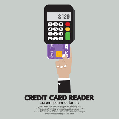 the reader: Credit Card Reader Vector Illustration Illustration