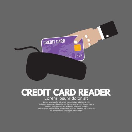 reader: Credit Card Reader Vector Illustration Illustration