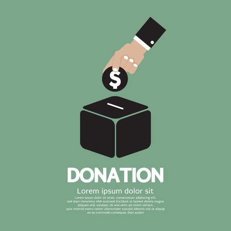 charity: Donate Money To Charity Concept Vector Illustration Illustration