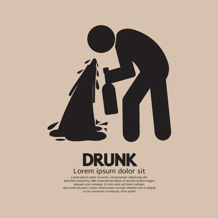 vomito: Ilustraci�n S�mbolo Drunk Person Vector Graphic Vectores