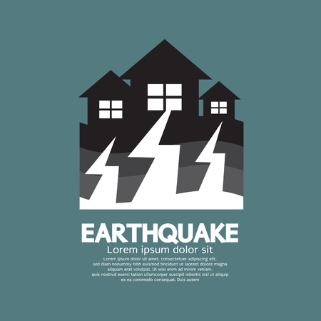 Earthquake Effect To Home Vector Illustration Vector