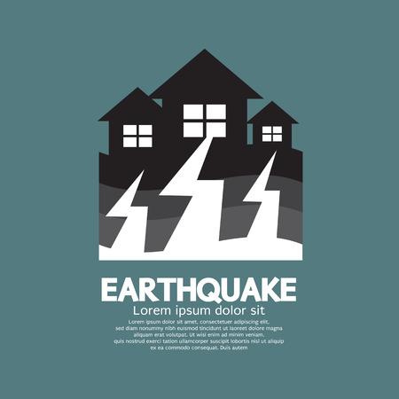 Erdbeben-Effekt To Home Vektor-Illustration Standard-Bild - 30929927