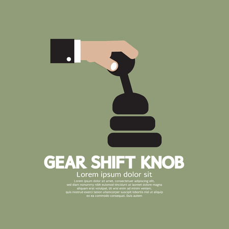 shifting: Gear Shift Knob Vector Illustration Illustration