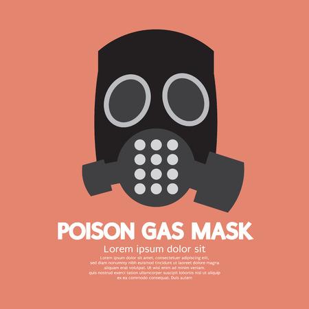 biological warfare: Flat Design Poison Gas Mask Vector Illustration