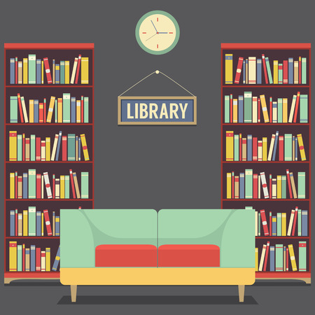 Empty Reading Seat In Library Vector Illustration Vector