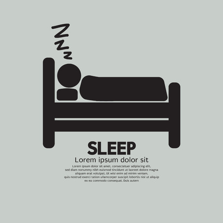 Person Sleeping In Bed Symbol Vector Illustration Vector