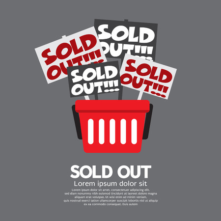 sold out: Sold Out Shopping Concept Vector Illustration Illustration