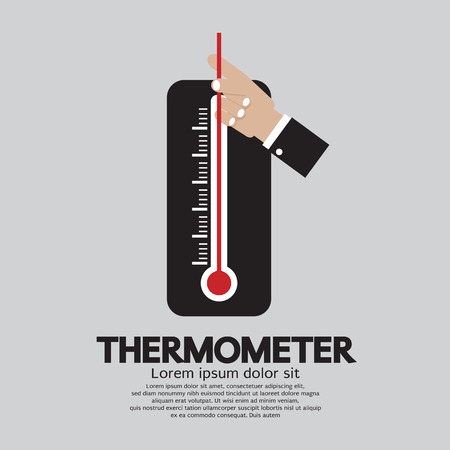 rising temperature: Thermometer For Weather Vector Illustration