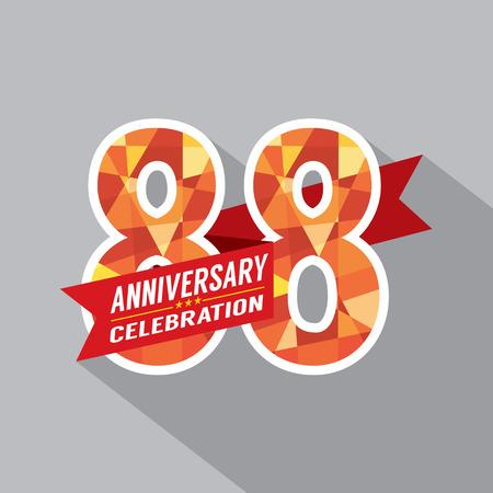 eighty: 88th Years Anniversary Celebration Design