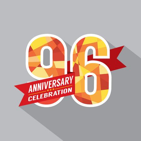 sixth birthday: 96th Years Anniversary Celebration Design