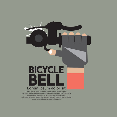clang: Bicycle Bell Graphic Vector Illustration Illustration