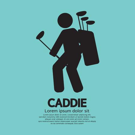 caddie: Caddie Graphic Sign Vector Illustration