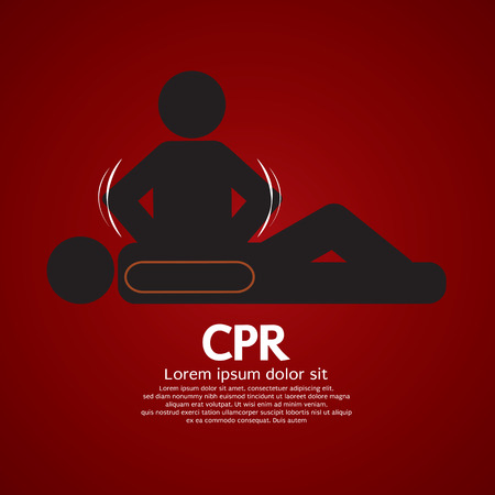 CPR Or Cardiopulmonary Resuscitation Vector Illustration