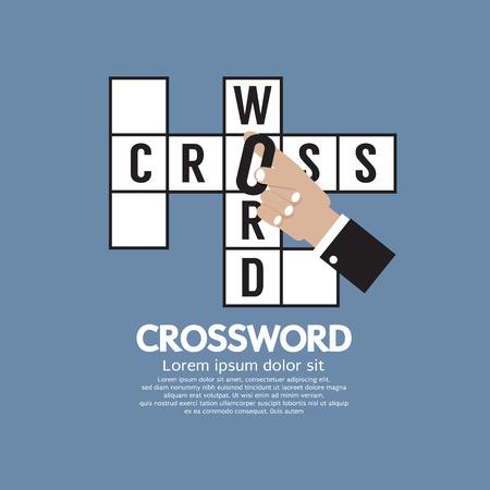 Flat Design Crossword Vector Illustration Vector