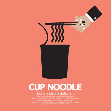 ramen: Instant Cup Noodle Vector Illustration