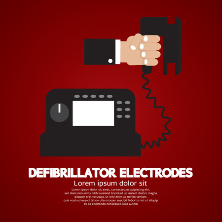 defibrillator: Defibrillator Electrodes Medical Equipment Vector Illustration Illustration