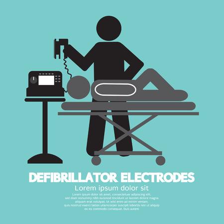 Defibrillator Electrodes Symbol Vector Illustration Vector