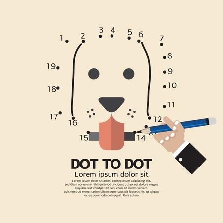 Dot to Dot Animal Games Vector Illustration Vector