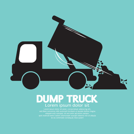 dumptruck: Dump Truck Carried And Unloading Loose Material