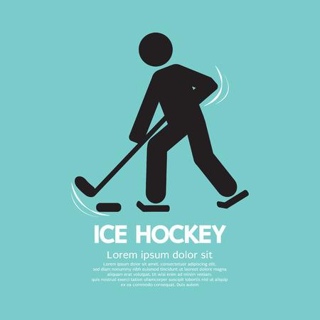 ice hockey player: Ice Hockey Player Symbol Vector Illustration Illustration