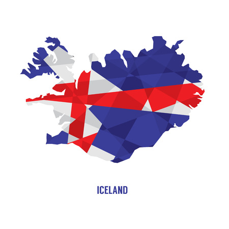 iceland: Map of Iceland Vector Illustration