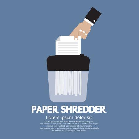 office theft: Paper Shredder Machine Vector Illustration