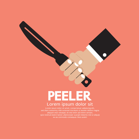 peeler: Peeler Kitchen Utensil Vector Illustration Illustration