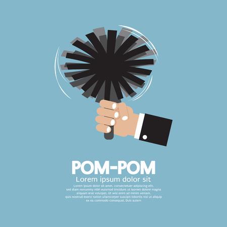 pom pom: Pom-Pom Of Cheerleader Vector Illustration Illustration