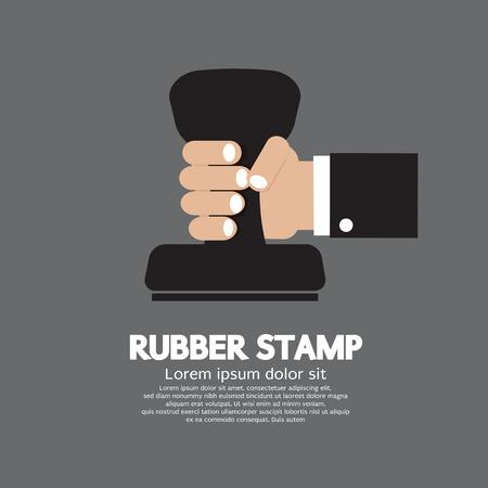 stamper: Rubber Stamp Tool Vector Illustration