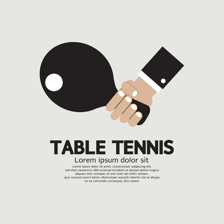 table tennis: Table Tennis Indoor Sport Vector Illustration