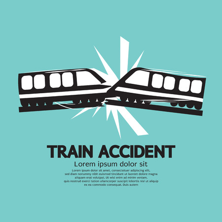 collide: Train Accident Graphic Vector Illustration