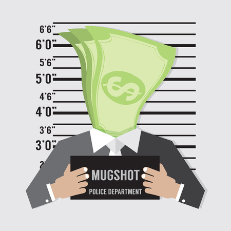 mugshot: Business Litigation Concept Vector Illustration Illustration