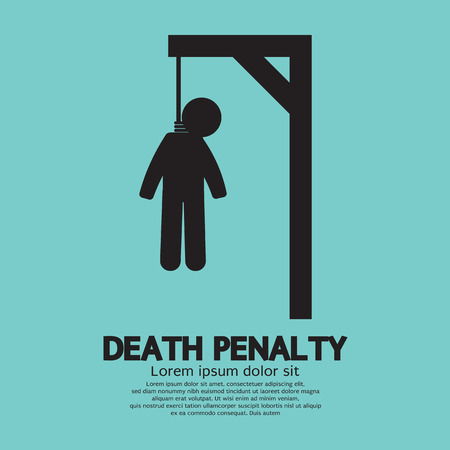 execution: Death Penalty Symbol Vector Illustration
