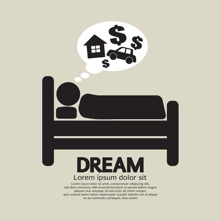 dream car: Dormir Ilustración Vector símbolo de la persona